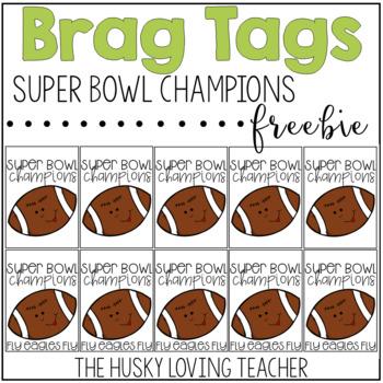 Super Bowl Brag Tags {FREEBIE}