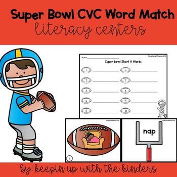 Super Bowl CVC Match with Recording Sheets