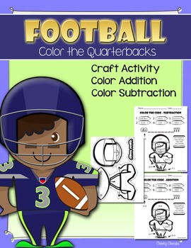 Football Activities (Craft | Color by Addition and Subtraction)