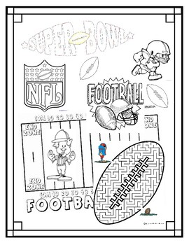 Super Bowl Football Coloring Page (Superbowl)