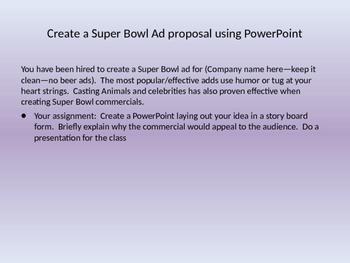 Super Bowl Commercial Project