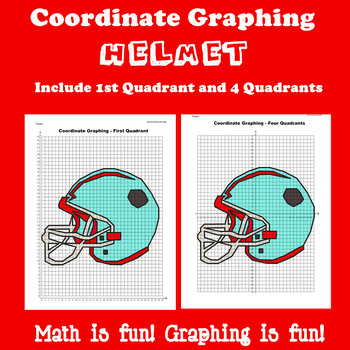 Super Bowl Coordinate Graphing Picture: Bundle 4 in 1