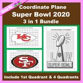 Super Bowl Coordinate Graphing Picture: Super Bowl 2020 Bundle