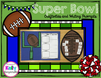 Super Bowl Craftivity and Writing Prompts mini pack