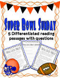 Super Bowl Differentiated Reading Passages *Freebie!*