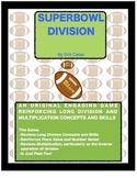 Super Bowl Division:  A Fun Football Long Division Game for 3rd - 6th Grade