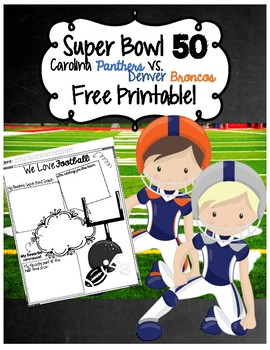 Super Bowl FREEBIE Print & Go Response Worksheet
