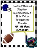 Super Bowl Football Themed Rhythm & Rest Identification Wo