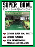Super Bowl / Football Themed Room Transformation (Editable)