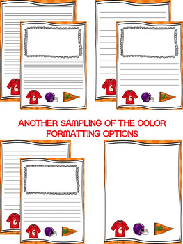 Super Bowl-Football-Writing Paper--Super Bowl Writing Stationary--DIFFERENTIATED