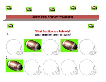 Super Bowl Fraction Worksheets