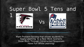 Super Bowl Fractions - Applying Comparing, Adding and Subtracting Fractions