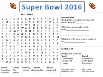 Super Bowl Fun 2016