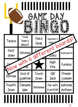 Game Day Bingo! (any football game)