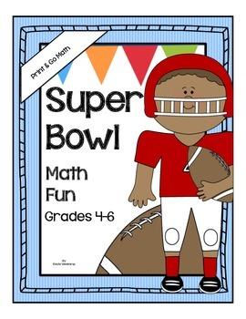 Print and Go Math *Super Bowl Math Fun