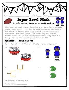 Super Bowl Geometry