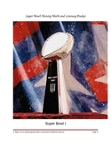 Super Bowl History Math and Literacy Packet