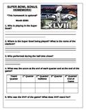 Super Bowl Homework
