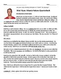 Super Bowl LI, Matt Ryan Nonfiction Passage and Comprehens