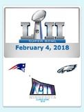 Super Bowl LII (52) Patriots vs. Eagles - Feb. 4, 2018