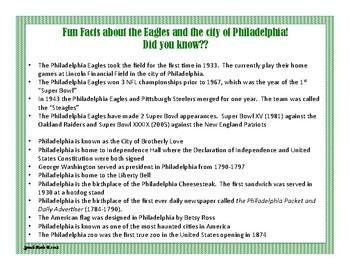 Super Bowl LII - Eagles & Patriots Spelling Games/Fun Facts