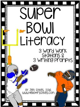 Super Bowl Literacy Word Work and Writing