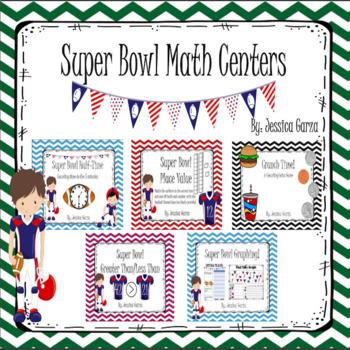 Super Bowl Math Centers MEGA Pack!!