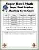 Super Bowl Math-Common Core