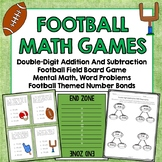 Football Games Double Digit Add, Subtract, Games and Board