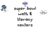 Super Bowl Math & Literacy Centers