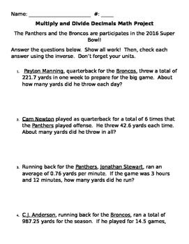 Super Bowl Math Project