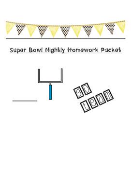 Super Bowl Math/ Research Homework