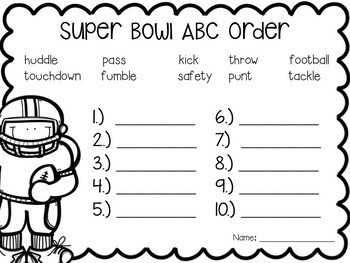 Super Bowl Math and Literacy