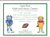 Super Bowl Math and Literacy Centers