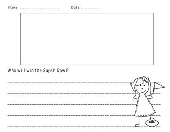 Super Bowl Math and Literacy Mini Book & More