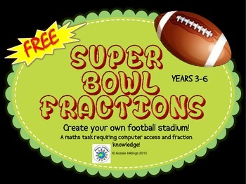 Super Bowl Maths - Fractions