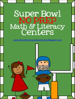 FootballNo Prep Math & Literacy Centers