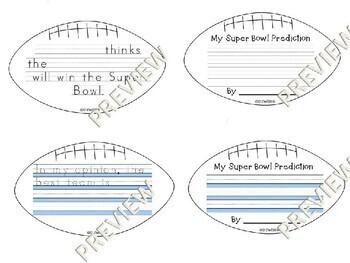 Super Bowl Opinion Writing Custom Football Templates K-5 Bulletin Board
