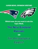 Super Bowl Opinion Writing Graphic Organizer