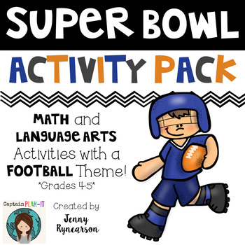 Super Bowl Pack! Super Bowl Themed Vocabulary, Math, & Writing!