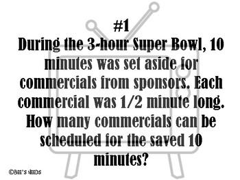 Super Bowl Party Math Stations