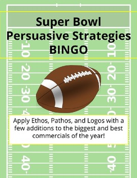 Super Bowl Persuasive Strategies BINGO