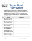Super Bowl PowerPoint and Homework