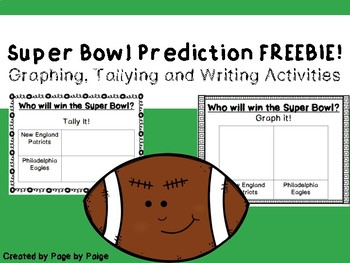 Super Bowl Predictions FREEBIE-Math and Writing Activities