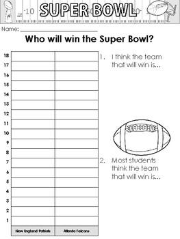 Super Bowl Predictions and Worksheets