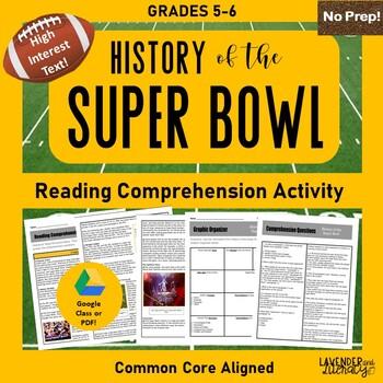 Super Bowl Reading Comprehension