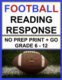 Super Bowl Reading Comprehension Passages and Questions