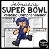 Super Bowl Reading Comprehension Worksheet, Central Idea, Summarizing