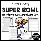 Super Bowl Reading Comprehension Worksheet focusing on Central Idea
