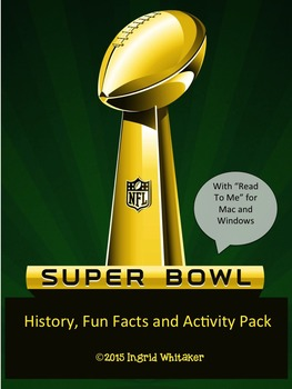 Super Bowl : Reading and Activity Pack - Activities For An
